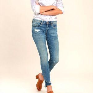 Blank NYC Classique Distressed Raw Hem Skinny Jean